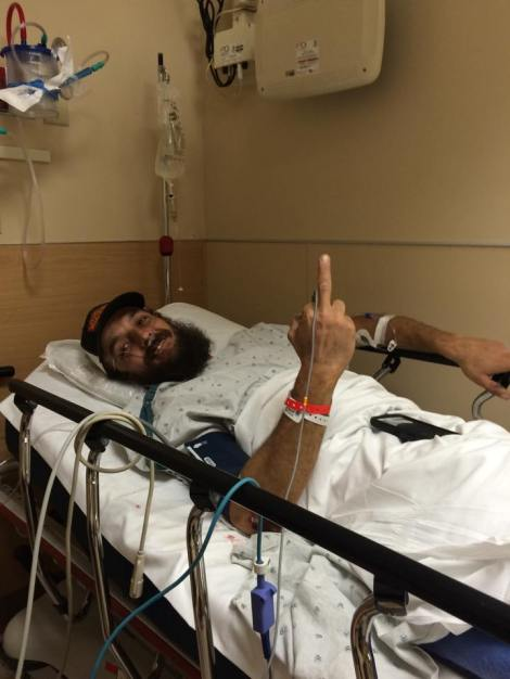 Krazy Karl - two aspirin and a positive attitude will even get you through a broken femur. Even