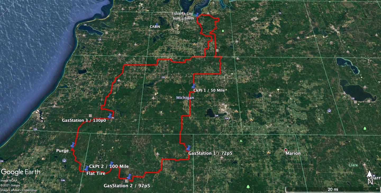 Sancho 200 v2021 Race Route